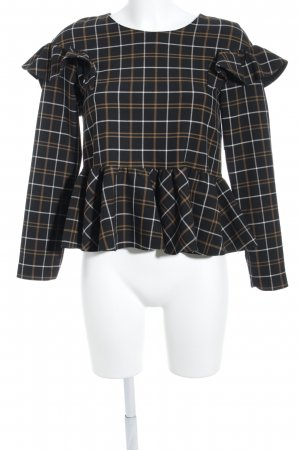 Zara Trafaluc Cropped Shirt Karomuster Street-Fashion-Look