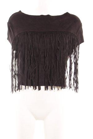 Zara Trafaluc Cropped Shirt schwarz Party-Look