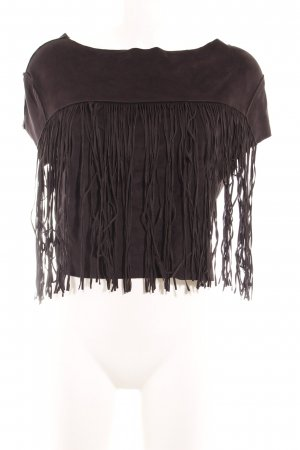 Zara Trafaluc T-shirt court noir style festif
