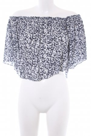 Zara Trafaluc Cropped Top florales Muster Casual-Look