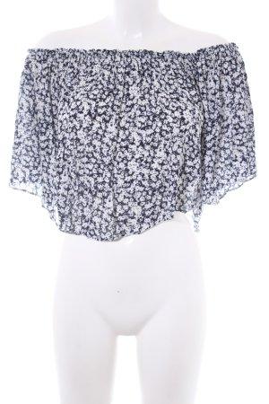 Zara Trafaluc Crop-top motif floral style décontracté