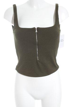 Zara Trafaluc Cropped Top olivgrün extravaganter Stil