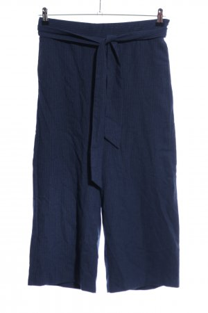 Zara Trafaluc Culottes blau Streifenmuster Casual-Look