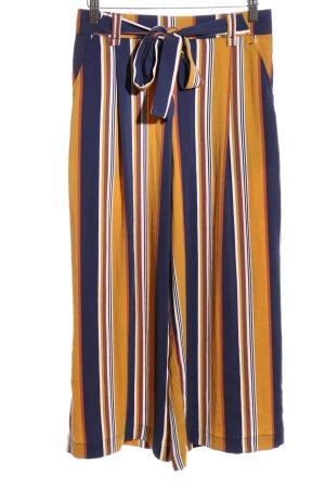 Zara Trafaluc Culotte orange clair-bleu motif rayé élégant