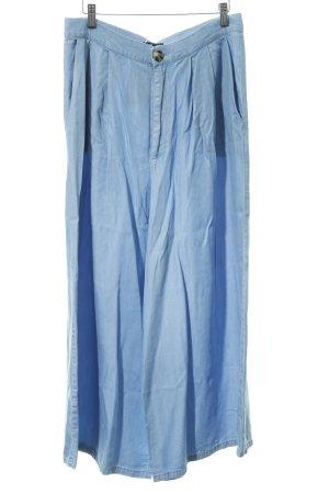 Zara Trafaluc Culottes azure-cornflower blue jeans look