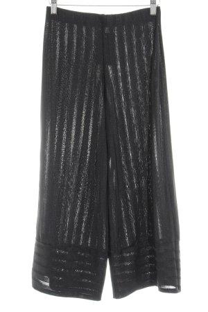 Zara Trafaluc Pantalone culotte nero motivo a righe stile spiaggia