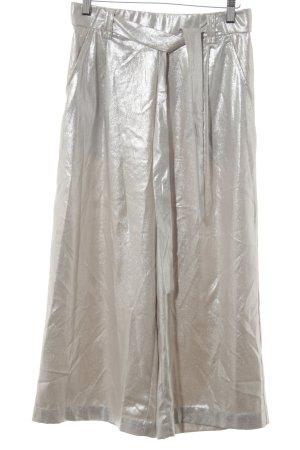Zara Trafaluc Culottes silberfarben Metallic-Optik