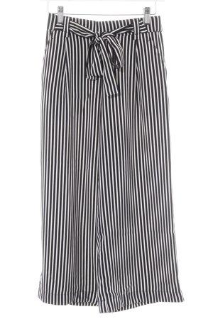 Zara Trafaluc Culotte blanc-noir motif rayé style décontracté