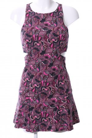 Zara Trafaluc Cut Out Dress pink abstract pattern casual look