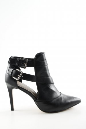 Zara Trafaluc Cut-Out-Stiefeletten schwarz Business-Look