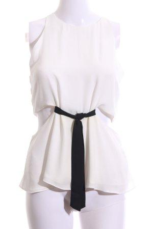 Zara Trafaluc Cut Out Top white-black casual look