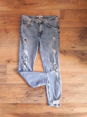 Zara Trafaluc Jeans cigarette multicolore
