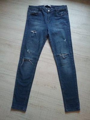 Zara Trafaluc Denim High Waist Skinny Jeans Gr. 42 L 32