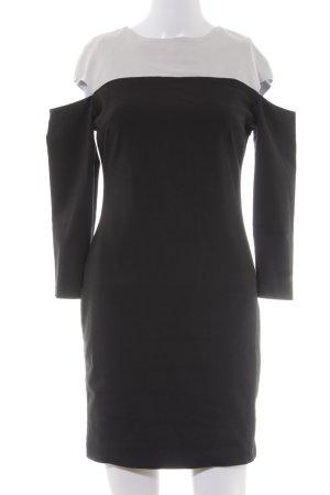 Zara Trafaluc Etuikleid schwarz-blasslila Business-Look