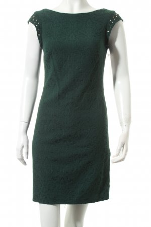Zara Trafaluc Etuikleid waldgrün Ornamentenmuster Party-Look