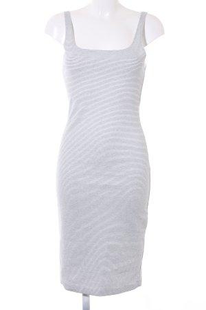 Zara Trafaluc Etuikleid weiß-schwarz Streifenmuster Casual-Look
