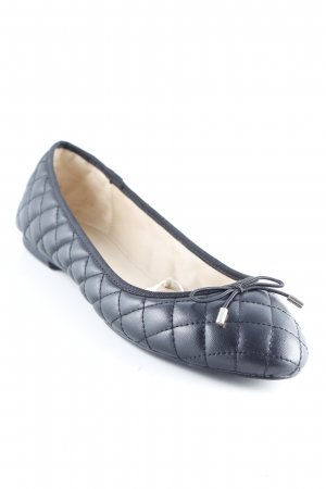 Zara Trafaluc Ballerines pliables noir motif de courtepointe style d'affaires