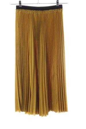 Zara Trafaluc Plaid Skirt gold-colored elegant