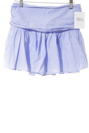 Zara Trafaluc Gonna a pieghe azzurro-bianco puntinato stile casual