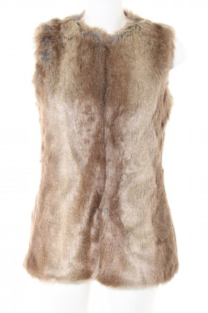 Zara Trafaluc Fur vest brown casual look
