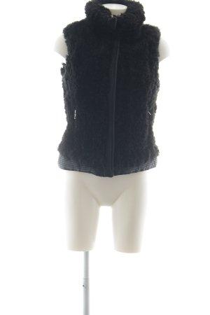 Zara Trafaluc Smanicato di pelliccia nero stile casual
