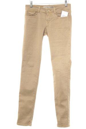 Zara Trafaluc Pantalon cinq poches beige style décontracté