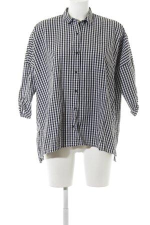 Zara Trafaluc Flanellen hemd wit-zwart geruite print casual uitstraling
