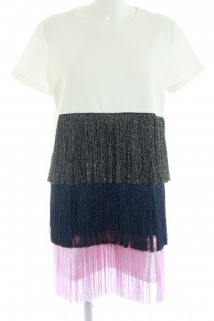 Zara Trafaluc Fringed Dress multicolored glittery