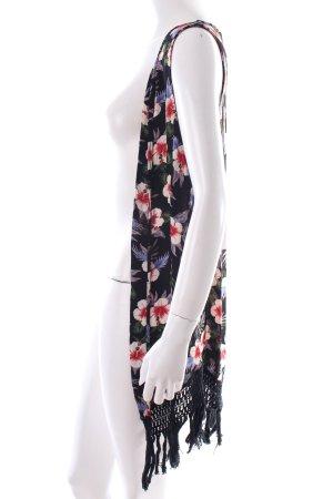 Zara Trafaluc Fransenweste florales Muster Hippie-Look