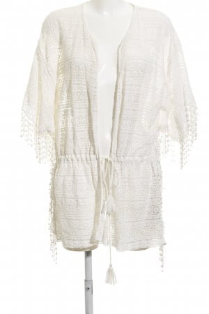 Zara Trafaluc Crochet Cardigan natural white beach look