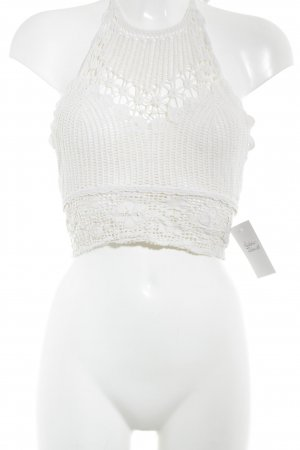 Zara Trafaluc Crochet Top natural white beach look