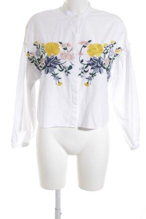 Zara Trafaluc Hemd-Bluse Blumenmuster Street-Fashion-Look