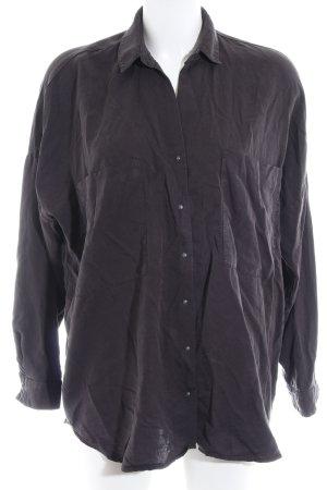 Zara Trafaluc Hemd-Bluse taupe Business-Look