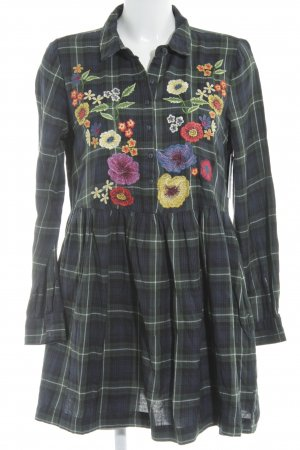 Zara Trafaluc Hemdblousejurk bloemenprint Geborduurde versieringen