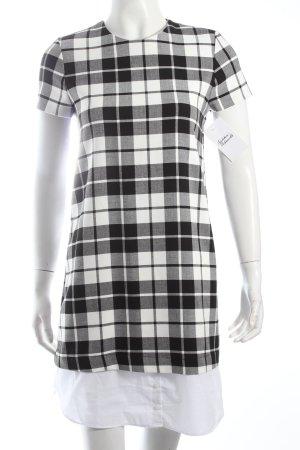 Zara Trafaluc Hemdblusenkleid schwarz-weiß Karomuster Brit-Look