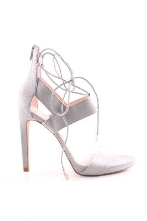 Zara Trafaluc Sandales à talon haut gris clair élégant