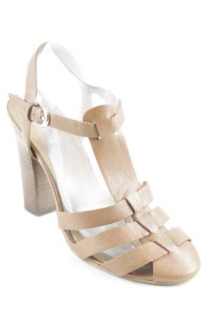 Zara Trafaluc High Heel Sandaletten beige Elegant