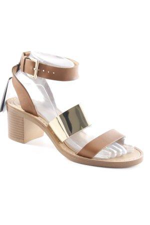 Zara Trafaluc High Heels beige-goldfarben Elegant