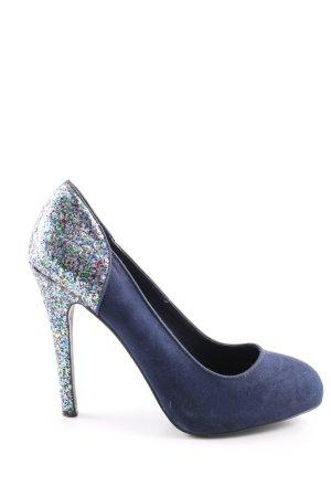 Zara Trafaluc Tacones altos azul elegante