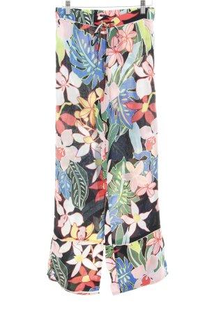 Zara Trafaluc High-Waist Hose Blumenmuster extravaganter Stil
