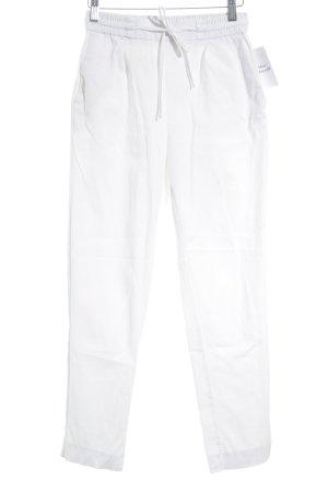 Zara Trafaluc Pantalón de cintura alta blanco look casual