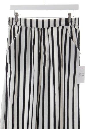 Zara Trafaluc High-Waist Hose weiß-schwarz Streifenmuster Retro-Look