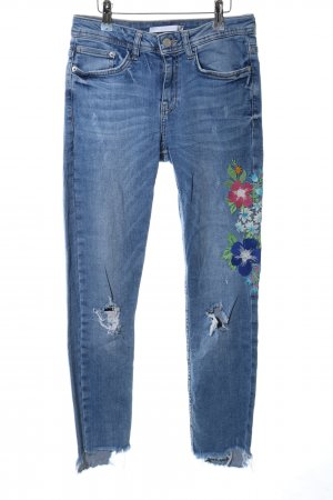 Zara Trafaluc Hoge taille jeans blauw casual uitstraling
