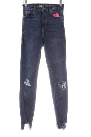 Zara Trafaluc Jeans taille haute bleu style décontracté