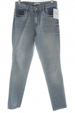Zara Trafaluc High Waist Jeans Blumenmuster Casual-Look