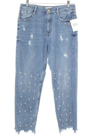 Zara Trafaluc Jeans a vita alta multicolore stile da moda di strada