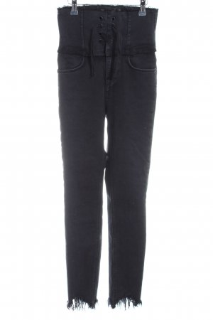 Zara Trafaluc High Waist Jeans black casual look