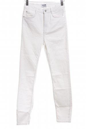 Zara Trafaluc Hoge taille jeans wit volledige print casual uitstraling