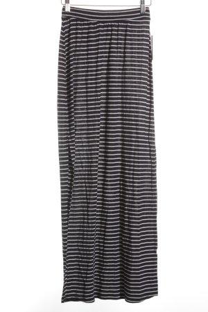 Zara Trafaluc Falda de talle alto azul-blanco estampado a rayas estilo sencillo