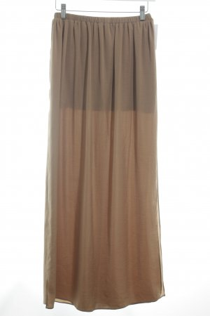 Zara Trafaluc High Waist Rock camel Beach-Look